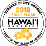 Hawaii Magazine Readers Choice First Place 2018