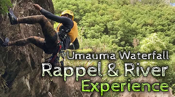 Umauma Waterfall Rappel and River Experience
