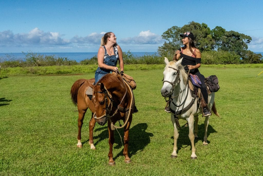 Horseback riding at Umauma Experience